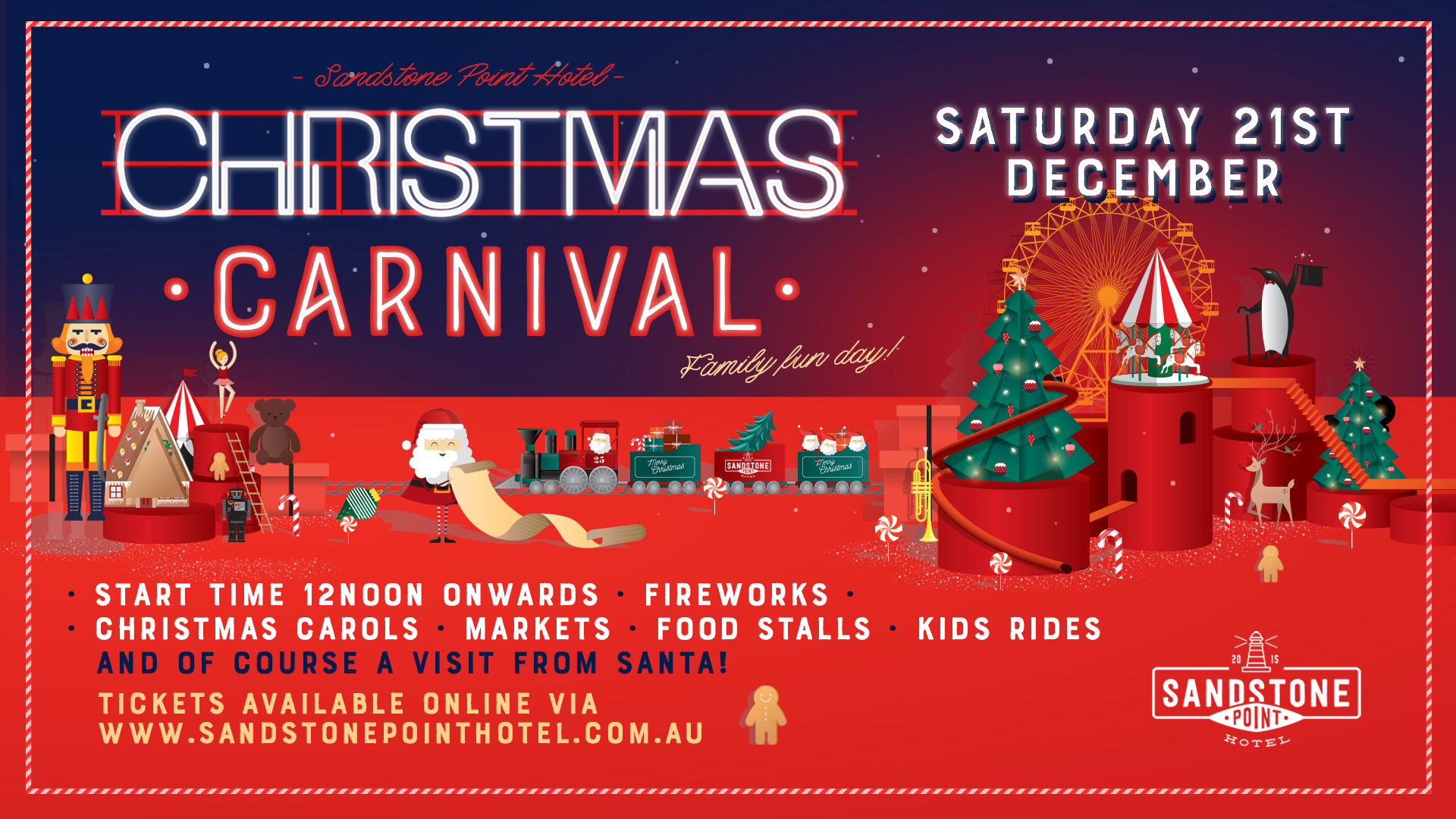 Christmas Eve 2019.Christmas Carnival Sandstone Point Hotel